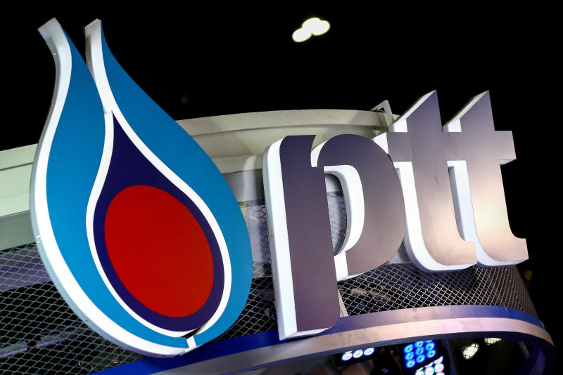 The logo of PTT is pictured at the 38th Bangkok International Motor Show in Bangkok. (Reuters file photo)