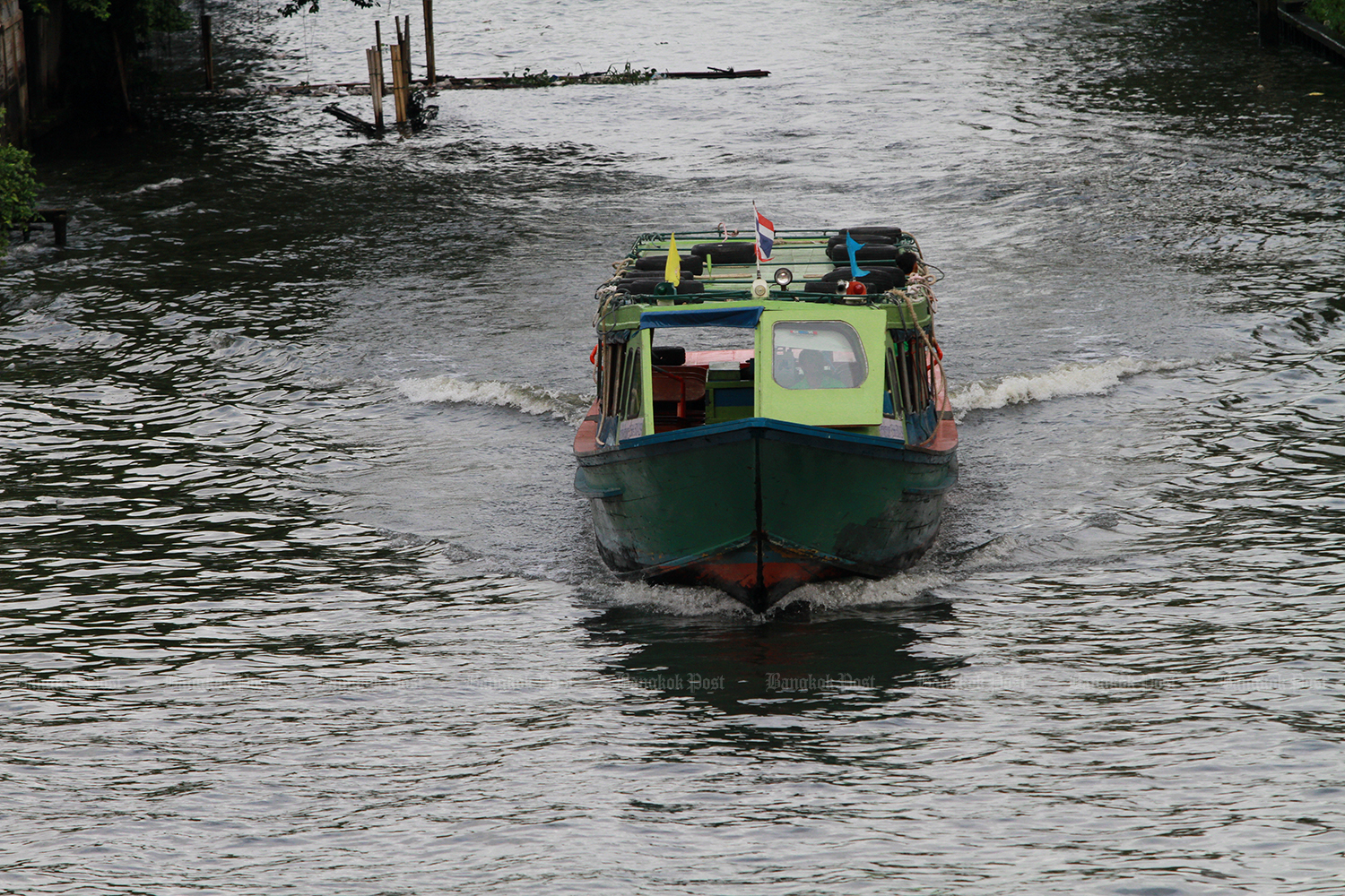 A new boat service between Bangkok's Bang Wa BTS station and Chang pier was launched on Monday. (Photo by Pawat Laopaisarntaksin)