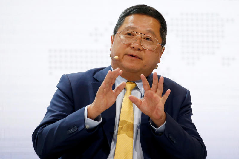 PTT CEO Chansin Treenuchagron speaks during the 20th Asia Oil & Gas Conference in Kuala Lumpur, Malaysia on Monday. (Reuters photo)