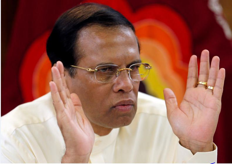 Sri Lanka's President Maithripala Sirisena speaks during a meeting with the Foreign Correspondents Association at his residence in Colombo, Sri Lanka Nov 25, 2018. (Reuters file photo)