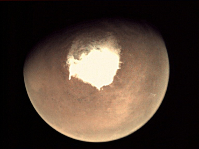 Martian methane belch melts away