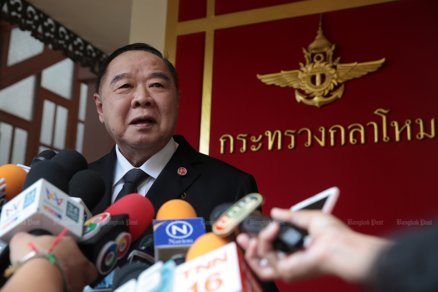 Deputy Prime Minister Prawit Wongsuwon eyes a crackdown on fake news. (Photo by Chanat Katanyu)