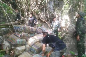 Drugs found in border cave