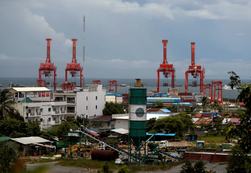 The Sihanoukville Autonomous Port is seen in Sihanoukville, Cambodia Sept 28, 2017.  The US Defense Department suspects Cambodia may be planning to host China's military. (Reuters file photo)