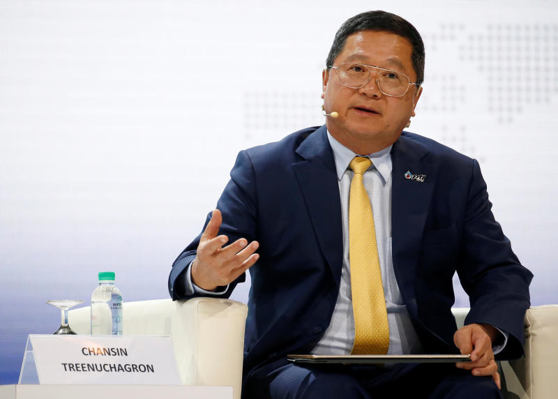 PTT CEO Chansin Treenuchagron speaks during the 20th Asia Oil & Gas Conference in Kuala Lumpur, Malaysia June 24, 2019. (Reuters file photos)