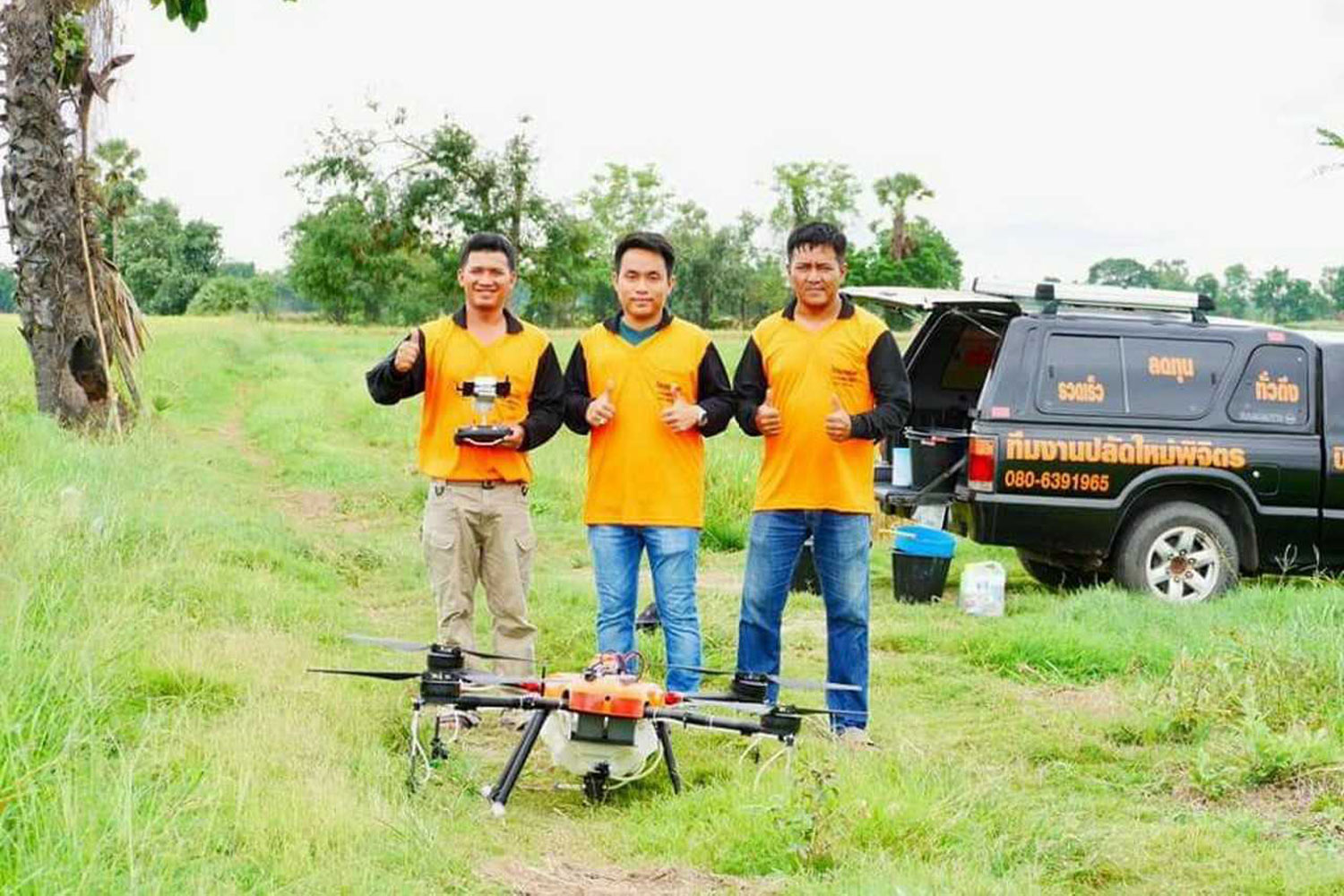 Local farmer's drone spraying service in high demand