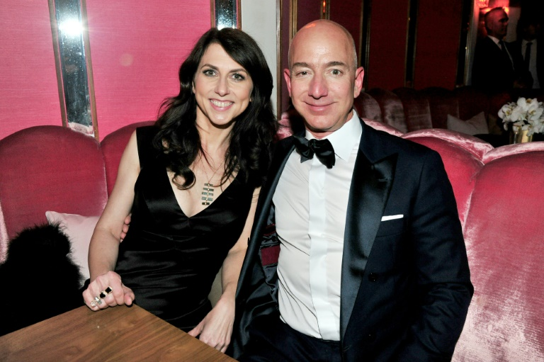 Amazon CEO Jeff Bezos and wife MacKenzie Bezos, pictured here in February 2017, finalized their divorce at $38 billion