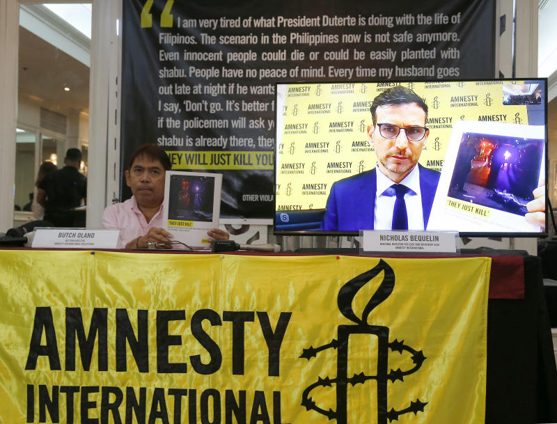 Amnesty urges United Nations to investigate Philippines drug 'bloodiest' killings