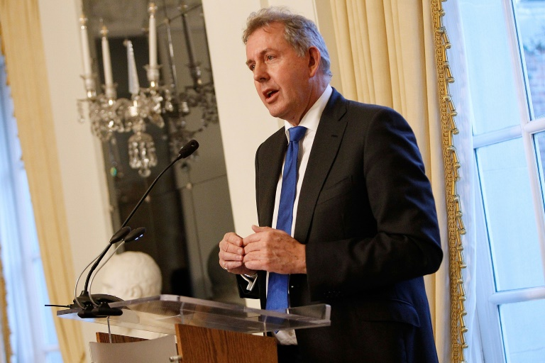 British Ambassador Kim Darroch (pictured January 2017) reportedly said Trump's presidency could