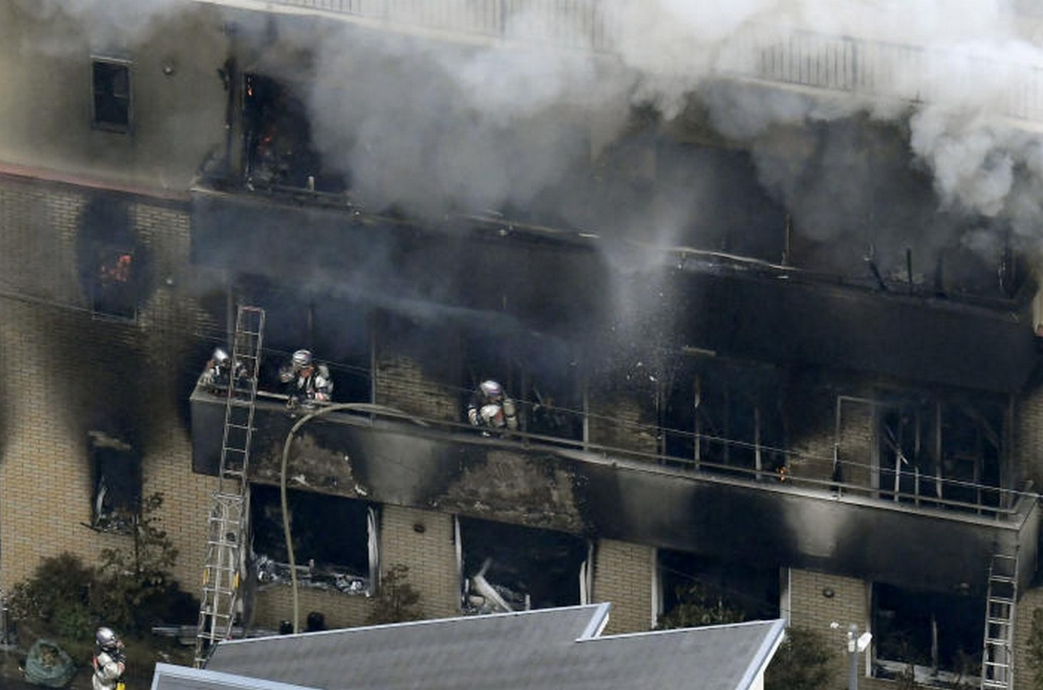 At least 12 presumed dead in Japan animation studio fire