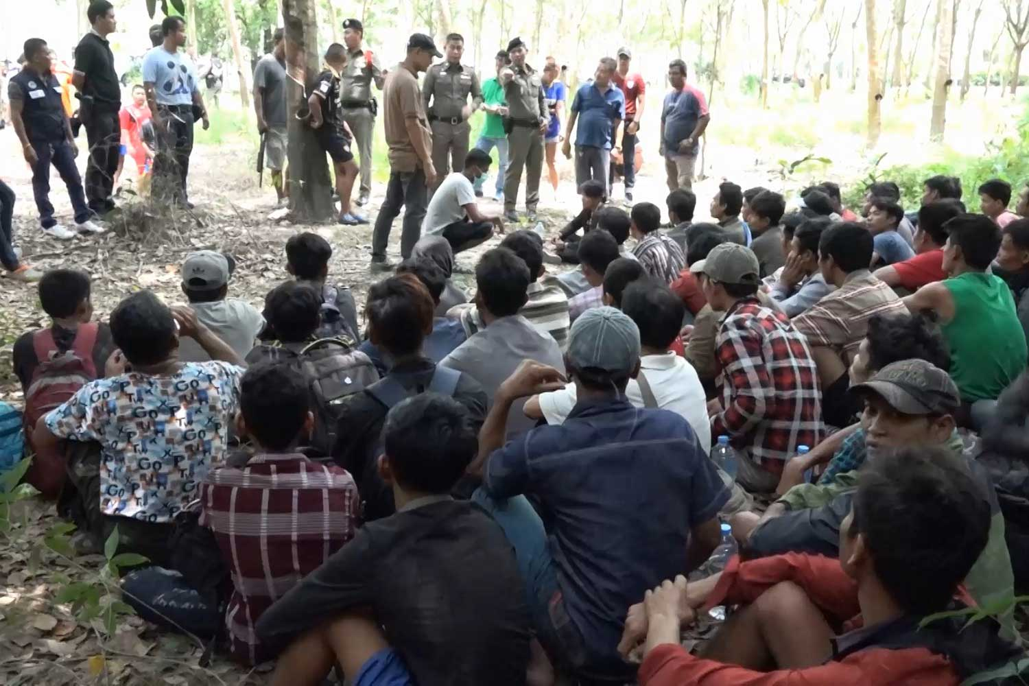 57 Malaysia-bound migrants arrested in Songkhla
