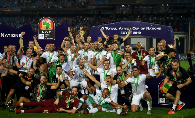 Algeria celebrated a first Africa Cup of Nations title since 1990