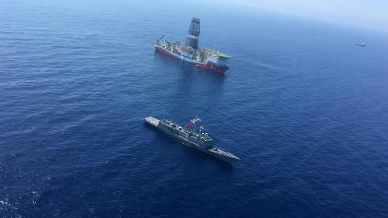 Turkey has sent a warship to accompany its drilling vessel