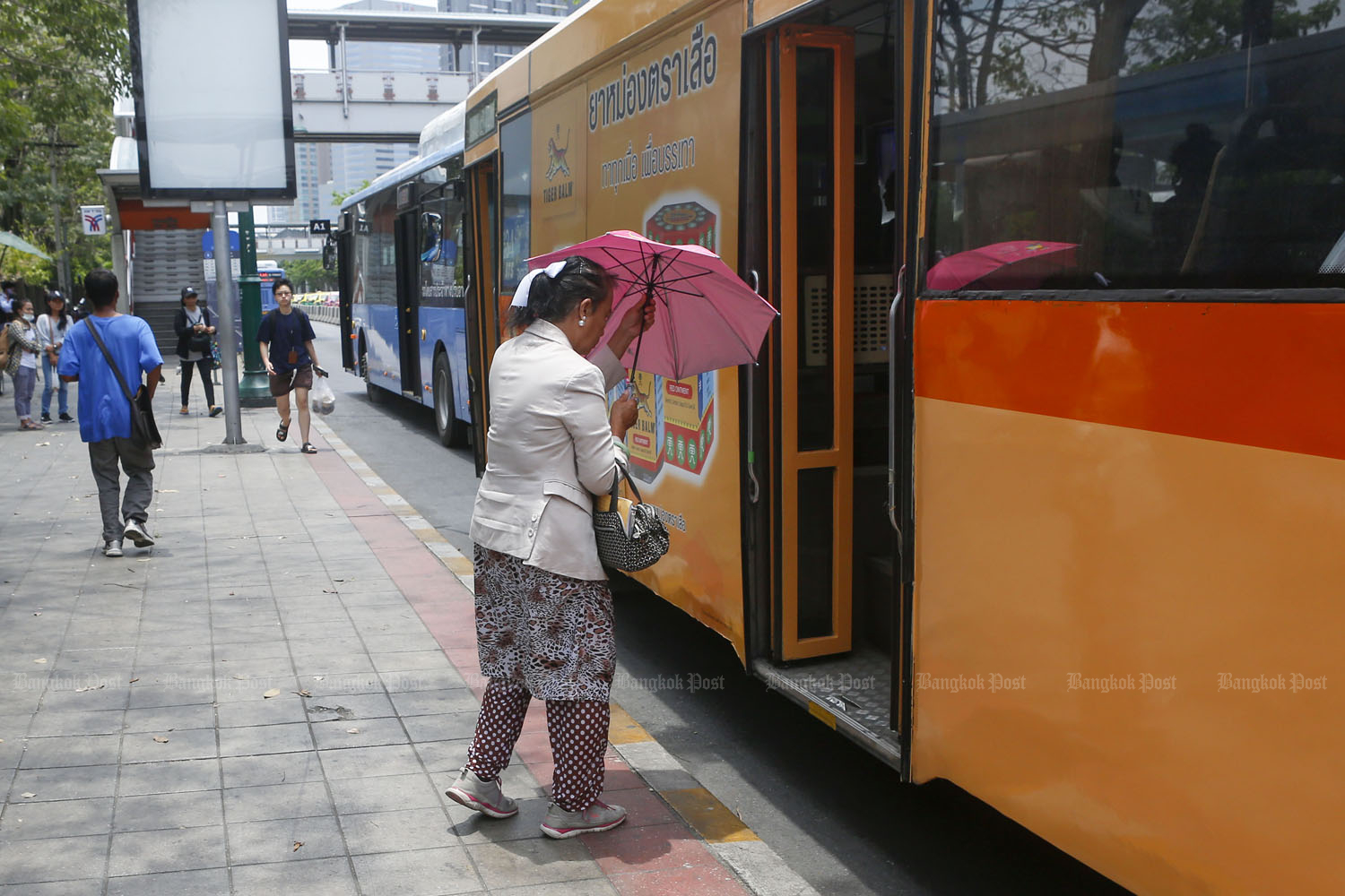 The Bangkok Mass Transit Authority will raise the price of weekly and monthly tickets for its bus services on July 5. (Bangkok Post photo)