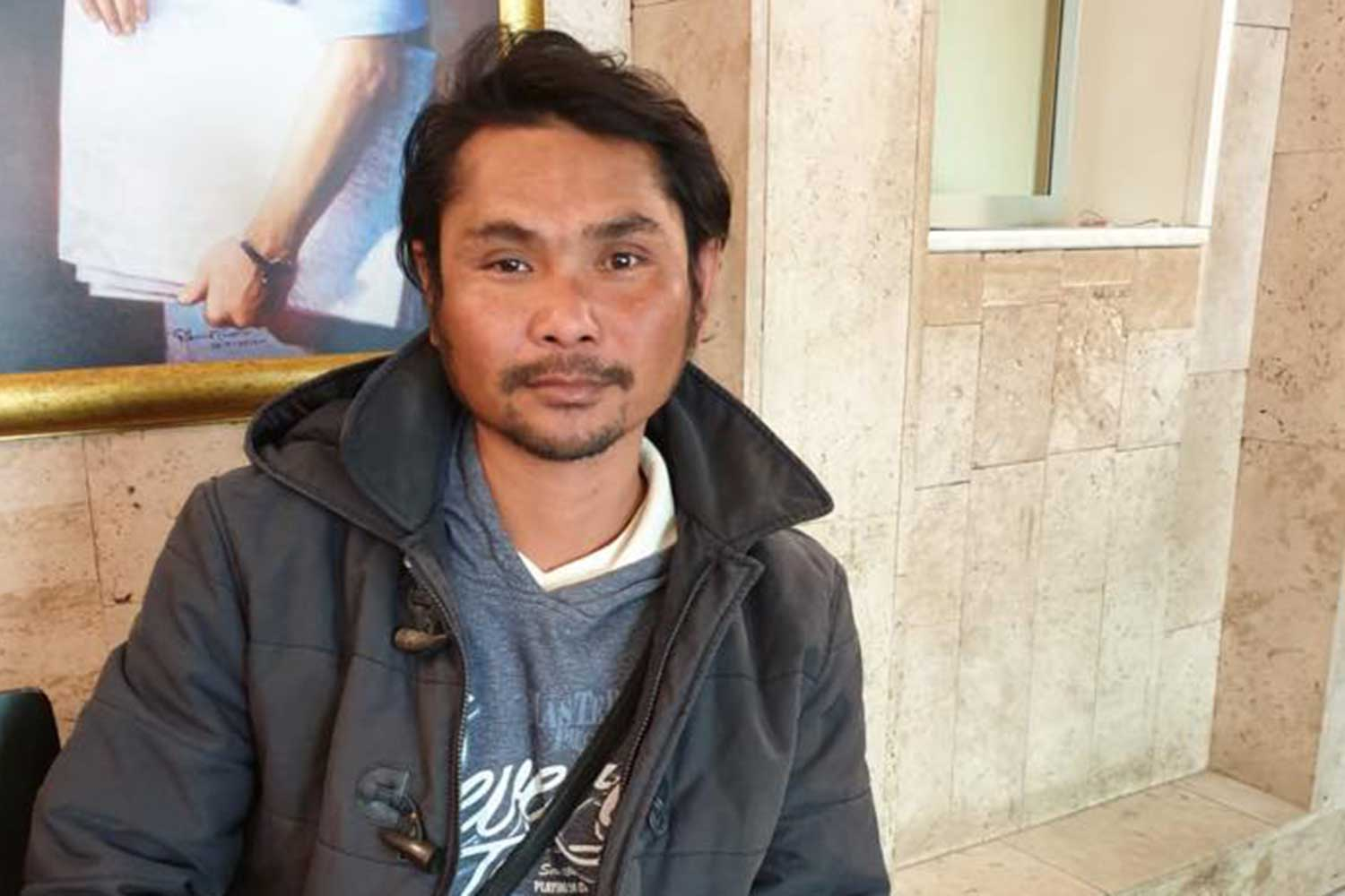 Uthai Waenbarb, 36, who was working as a chef in Budapest, found alive in Moscow after vanishing en route to Thailand in mid-June. (Photo taken from @rtemoscow Facebook page)