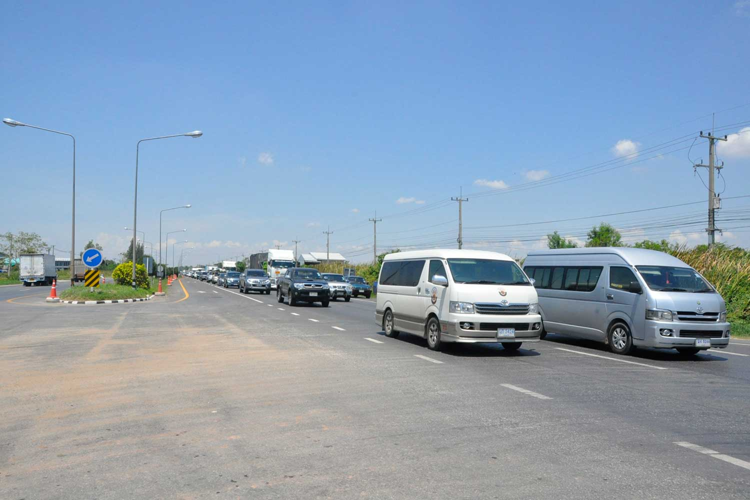 Mittraphap is one of the four roads planned for a 120km/hour speed limit project. (Post Today photo)