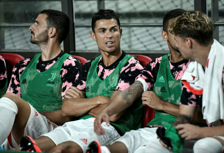 Cristiano Ronaldo (centre) stayed on the bench during Juventus's exhibition game in Seoul last week.