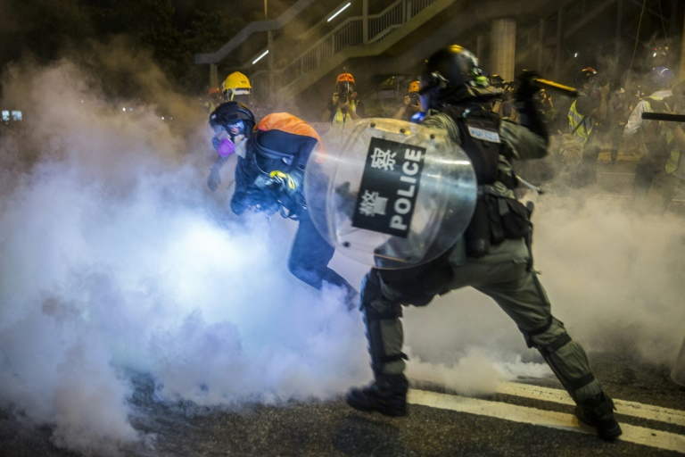 Hong Kong protesters seek to shut down city with general strike