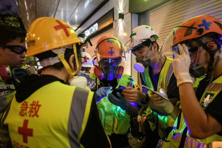 Nurses, doctors, medical students and ordinary people with first aid training have all clamoured to join what has become a small volunteer corps helping treat people on the frontlines of the Hong Kong protests