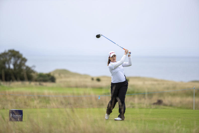 Moriya Jutanugarn tees off at the 6th hole during day four of the Ladies Scottish Open at The Renaissance Club in North Berwick Scotland on Sunday