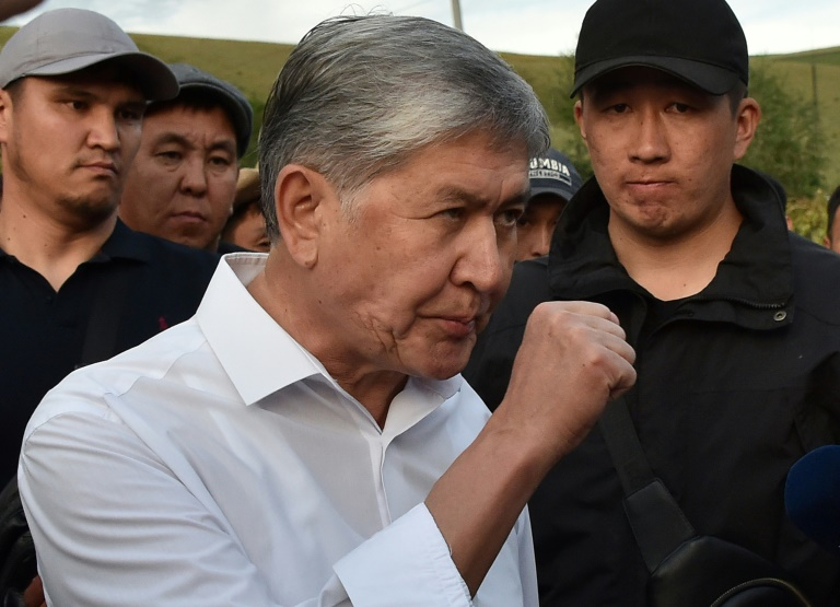 Atambayev was detained in a massive security operation last week.