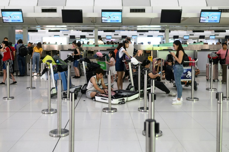 The airport protest is the latest escalation in a 10-week political crisis that has gripped Hong Kong