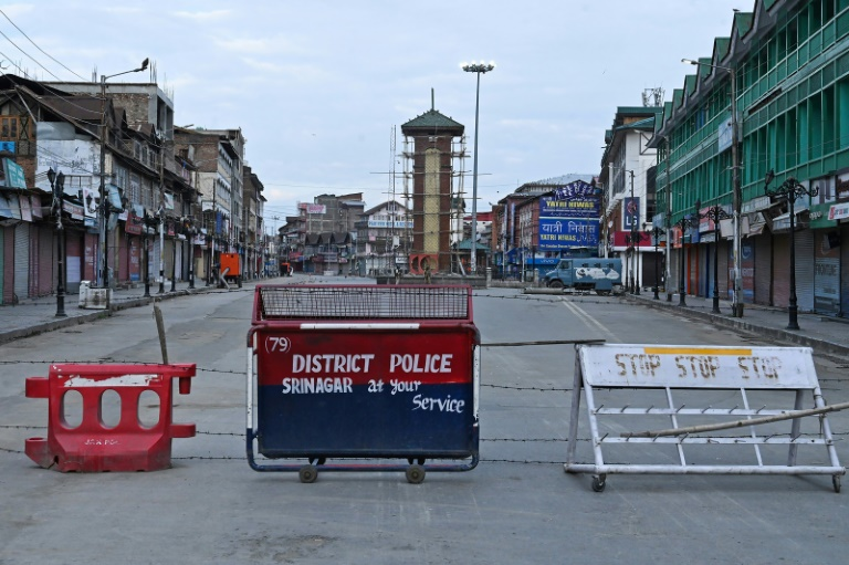 India snapped telecommunications and imposed a curfew in the part of Kashmir it controls on Aug 4.