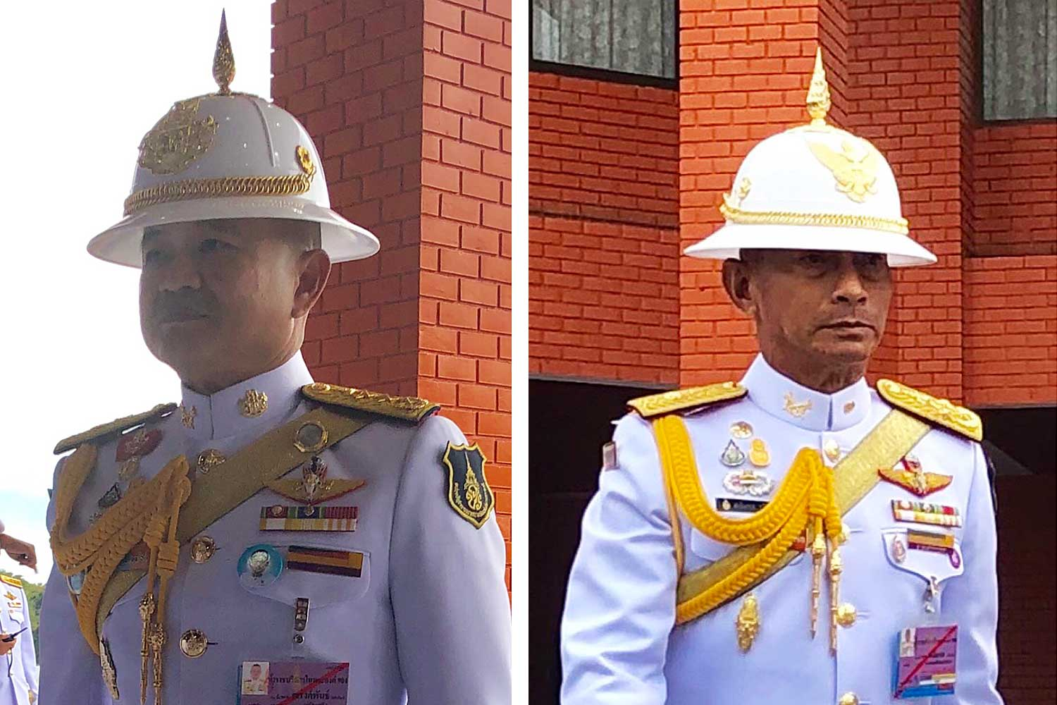 From left: Narongpan: May succeed Apirat; Chalermpol: Set to be defence chief