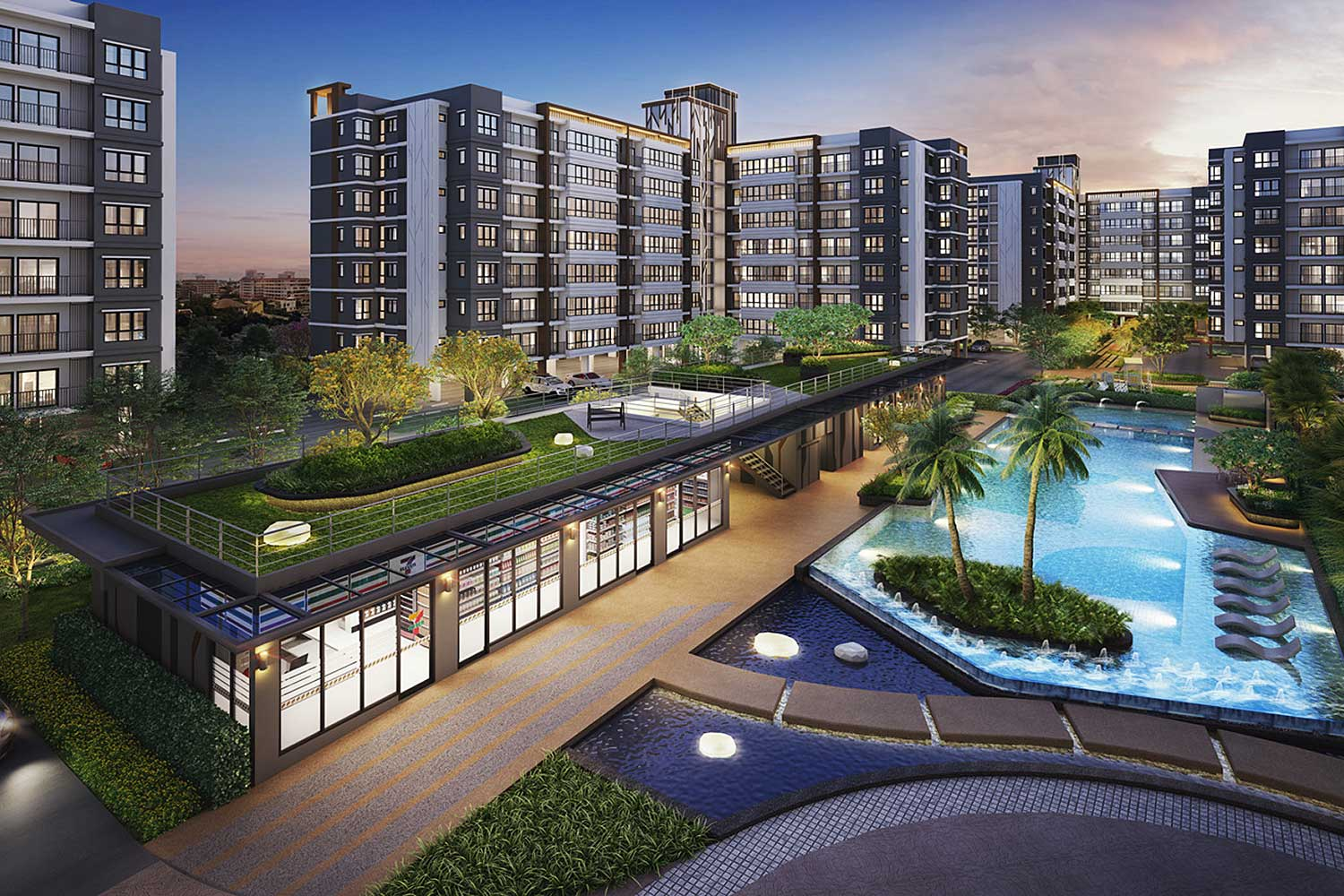 An artist's rendition of Supalai City Resort Sukhumvit 107, a low-rise condo project with 1,026 units.