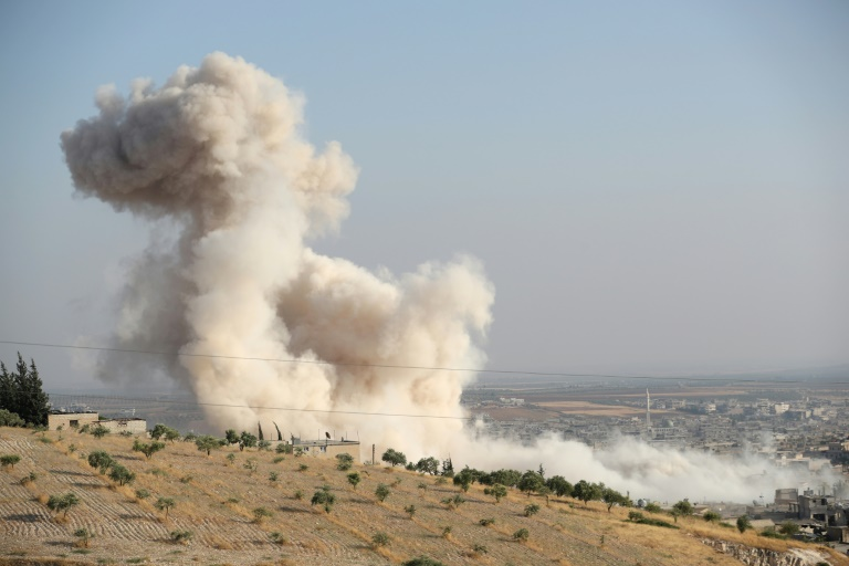 Syria regime forces enter key town amid fierce clashes: monitor
