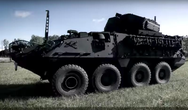 A model of the Stryker armoured personnel vehicle  on YouTube released by the manufacturer General  Dynamics Land Systems.