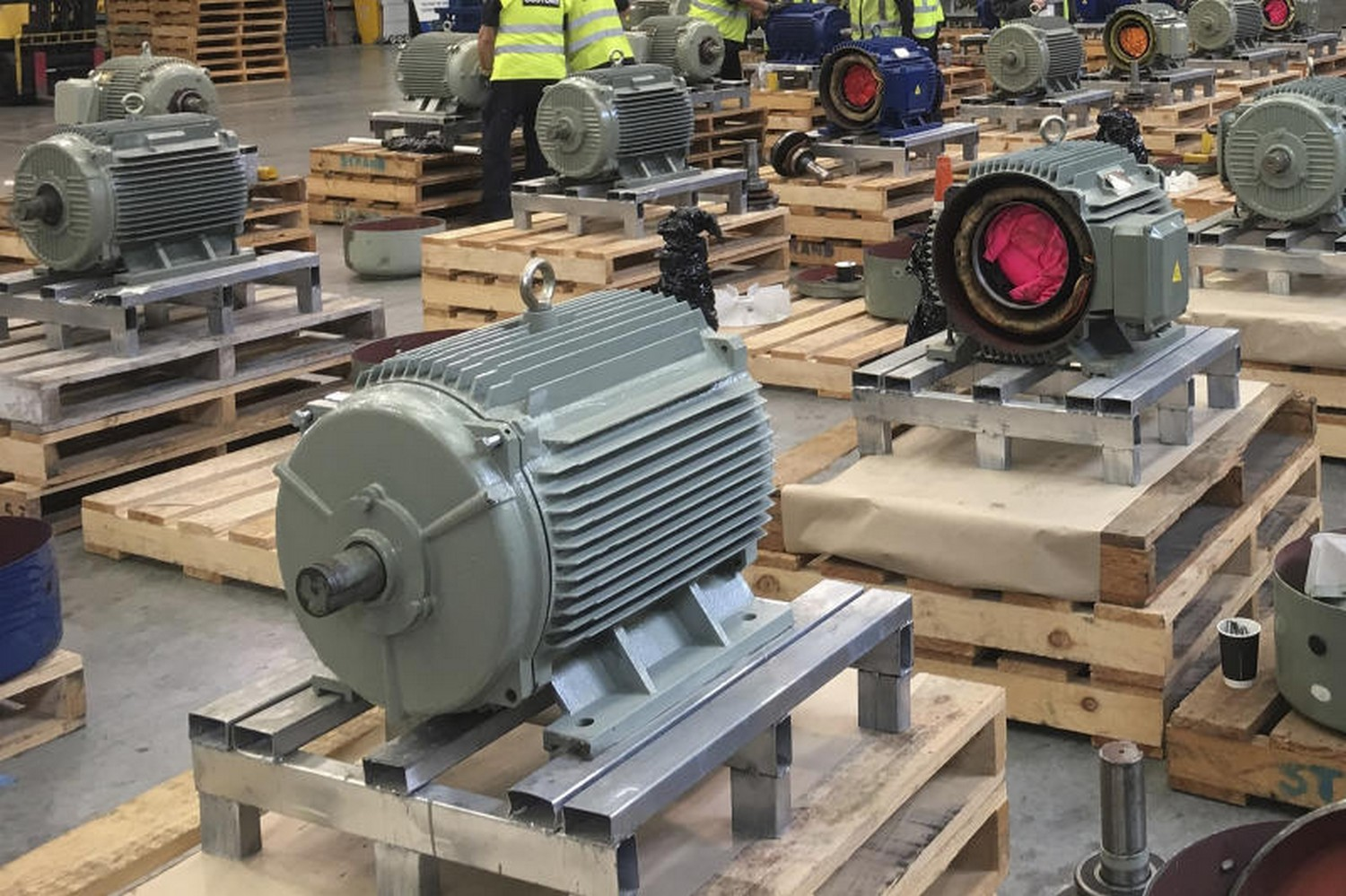 New Zealand Customs found 469 kilogrammes of methamphetaine concealed inside these electric motors imported from Thailand. Valued at US$153 million, it is the largest ever seizure of meth at New Zealand's border. (Photo: NZ Customs/AP)