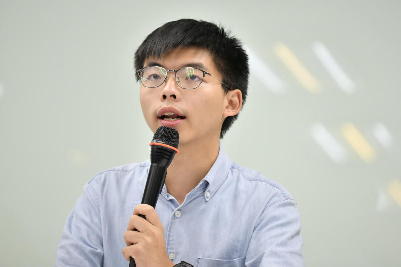 Pro-democracy activist Joshua Wong attends a news conference in Taipei Taiwan Sept 3 2019