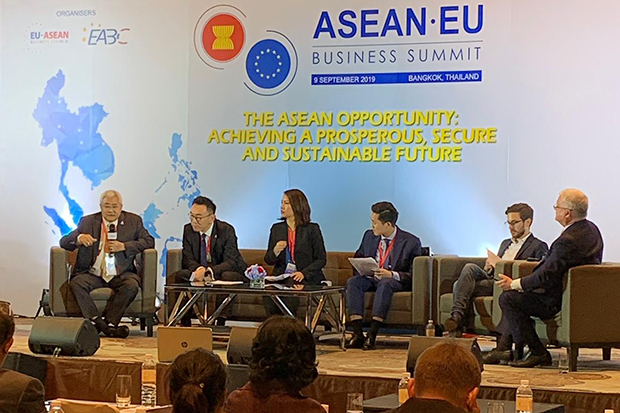 Experts from the public and private sectors in Asean and the EU discuss building a sustainable digital economy in Asean.