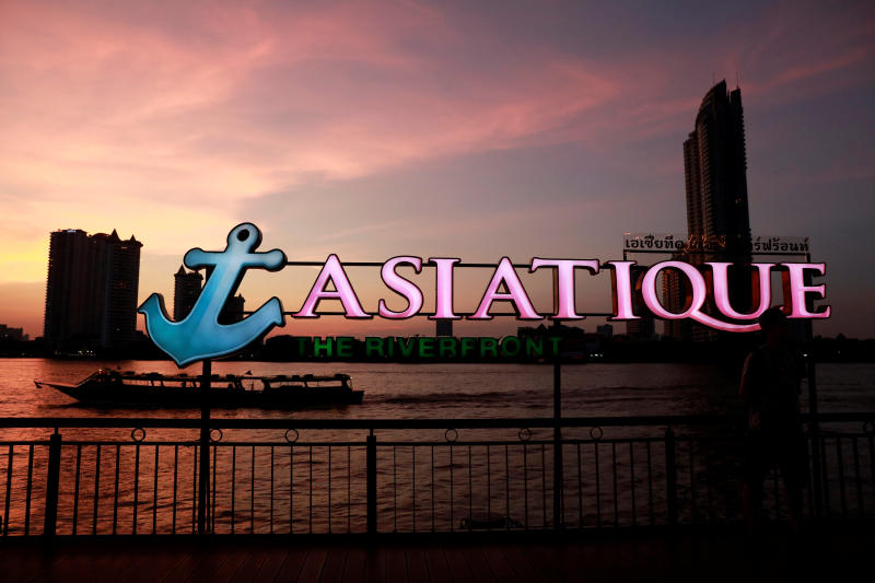 A tourist boat passes on the river near Asiatique night market, in Bangkok, April 23, 2019. (Reuters file photo)
