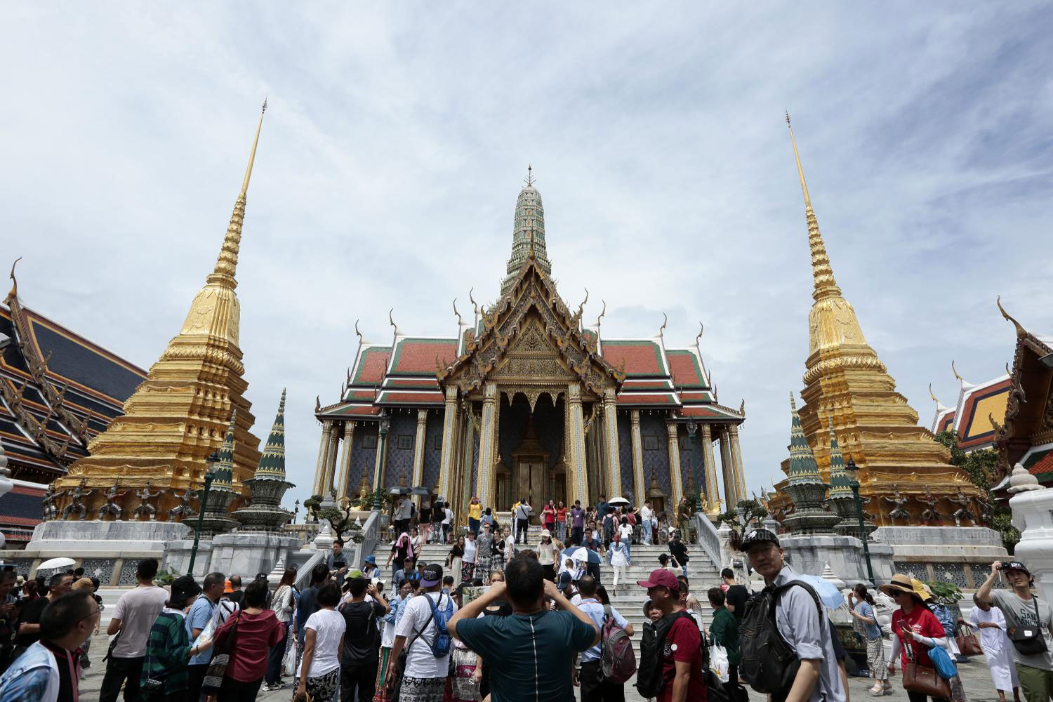 Tourists flock to Wat Phra Kaew (Temple of the Emerald Buddha) in Bangkok, which is known as one of Thailand's premier landmarks. Built 237 years ago, Wat Phra Kaew attracts thousands of visitors each day.