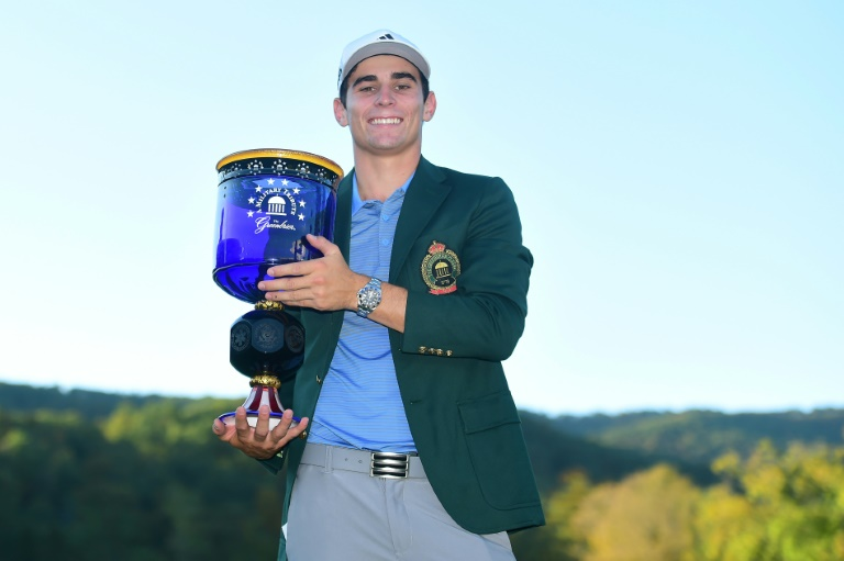 Joaquin Niemann roared home with three straight birdies on his final three holes, capping it off with a 25-foot bomb on 18, to become the youngest non-American winner on the Tour since 1923