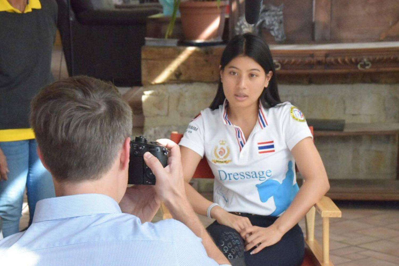 Her Royal Highness Princess Sirivannavari Nariratana Rajakanya during a CNN interview about the FEI Asian Championships Pattaya 2019. (Photo supplied)