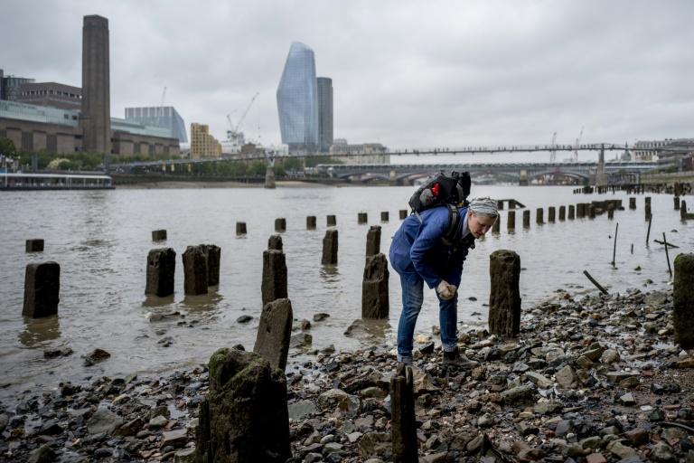 'Mudlarks' like Lara Maiklem scour the shores of the River Thames in London for historical items.