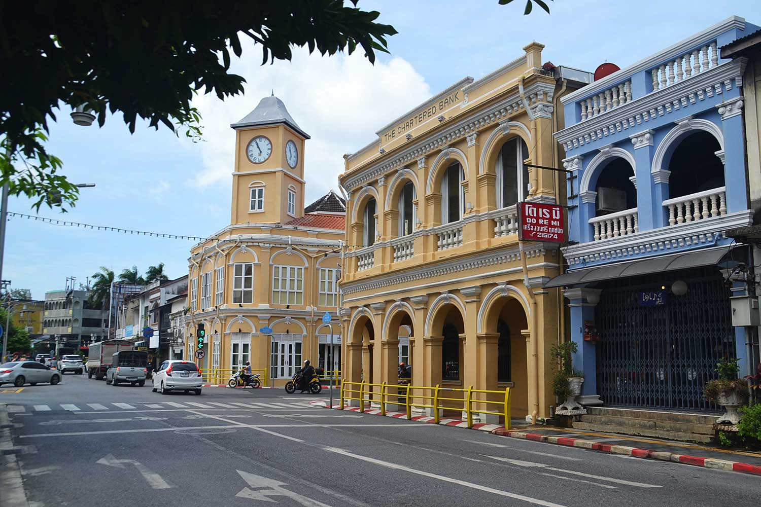Heritage buildings line the streets in central Phuket's Old Town. The province is promoting its architectural past as an added attraction for visitors. (Photos by Achadtaya Chuenniran)