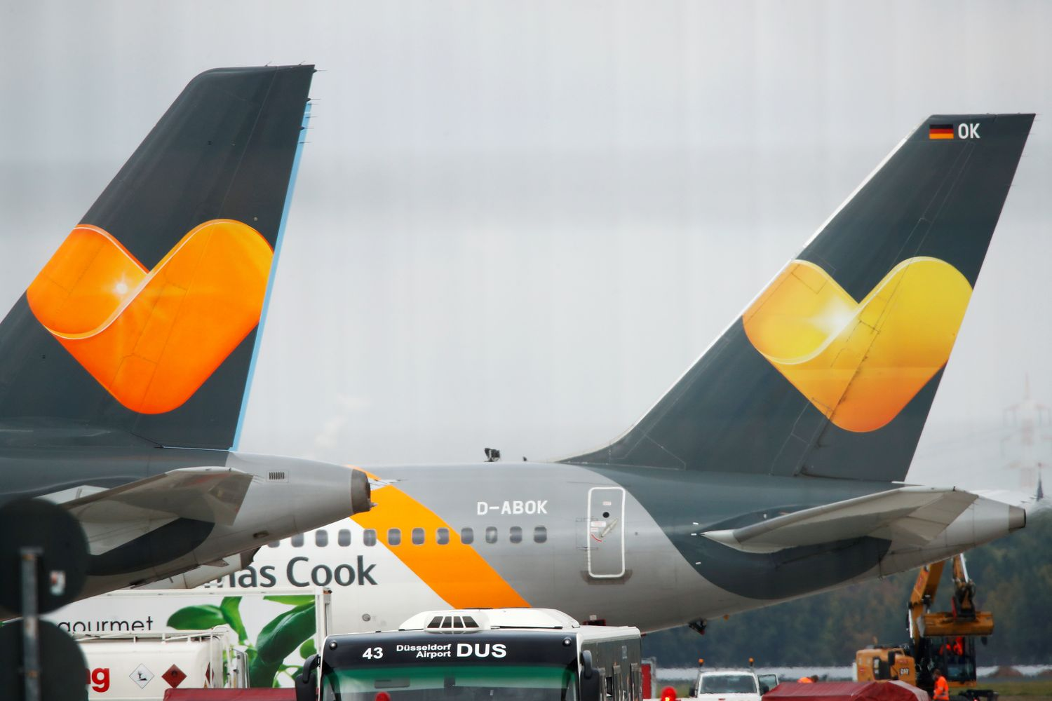 Crying staff leave Thomas Cook HQ as company collapses