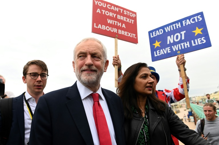 British Labour leader faces showdown with party members over Brexit