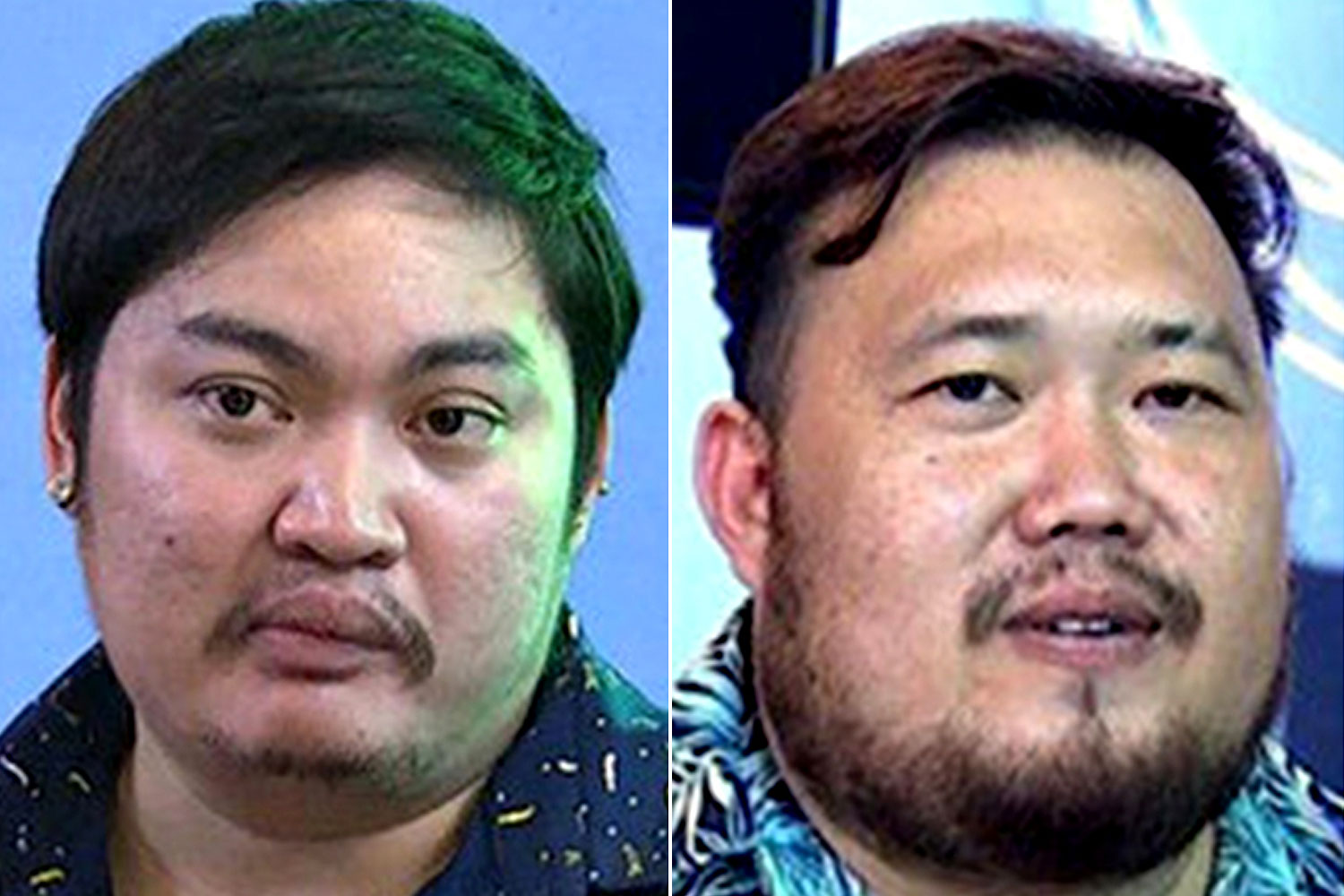 From left: Chaiyaphon: Detained for questioning; Nathi: One of the sex wanted suspects.