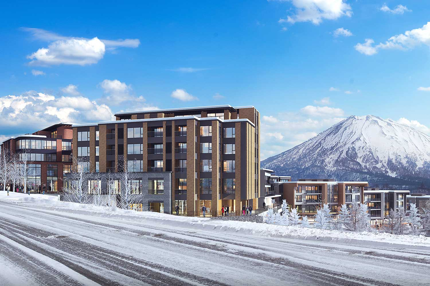 An artist's rendition of the 126-room Amari Niseko hotel.