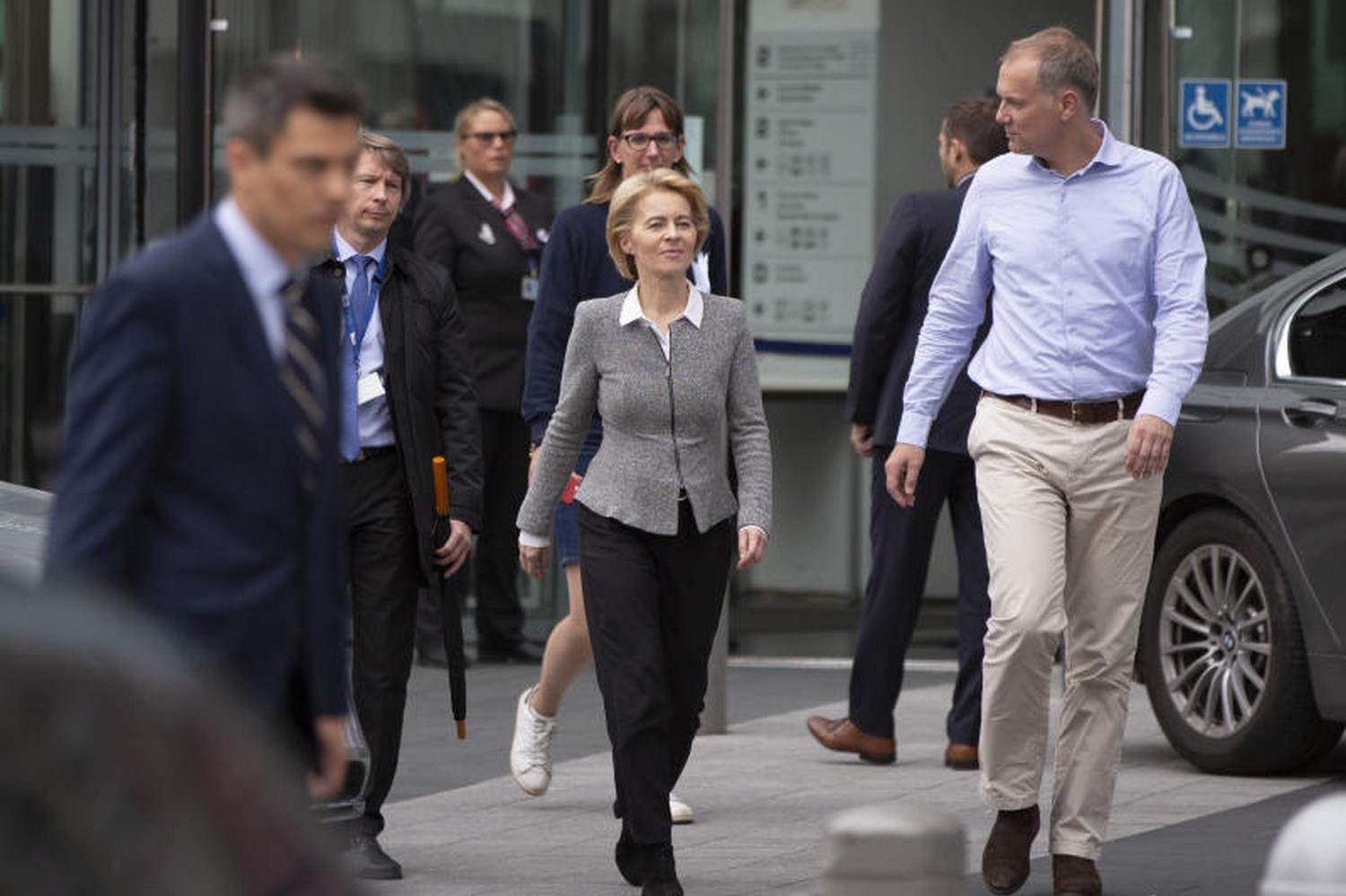 Incoming European Commission president Ursula von der Leyen (centre). Her influence comes in deciding, after the elaborate horse trading, which portfolio goes to whom.