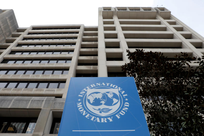 The International Monetary Fund (IMF) headquarters building is seen ahead of the IMF/World Bank spring meetings in Washington, US, April 8, 2019. (Reuters file photo)