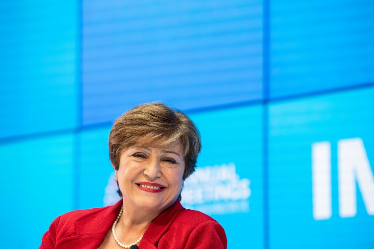 New IMF chief Georgieva says world suffering 'synchronized slowdown'