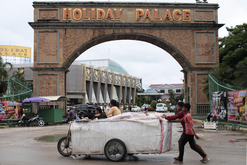 Poipet, a Cambodian town opposite Aranyaprathet district in Sa Kaeo, plans an airport to boost its economy. (Bangkok Post photo)