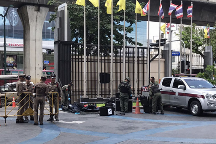 Bomb scare at army TV station