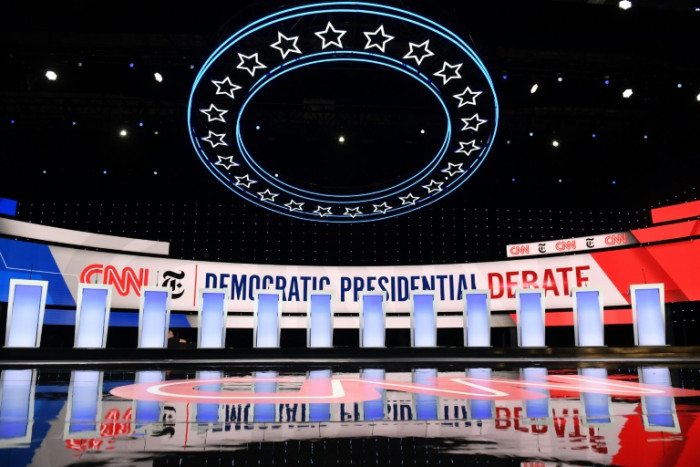 At crowded Democratic debate, Biden and impeachment to draw spotlight